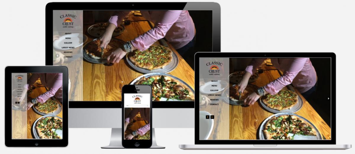 Classic Crust Mobile Catering Website Design